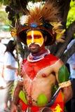 Membro di tribù della Papuasia Nuova Guinea Fotografie Stock Libere da Diritti