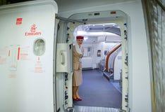 Membro do grupo de Airbus A380 dos emirados Fotografia de Stock