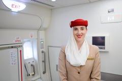 Membro do grupo dos emirados em aviões de Airbus A380 Imagem de Stock