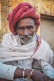 Membro duma tribo de Rabari Fotos de Stock Royalty Free