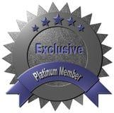 Membro esclusivo del platino Immagini Stock Libere da Diritti