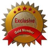 Membro esclusivo dell'oro Fotografia Stock