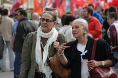 Membro idoso não identificado da campanha da oposição Imagens de Stock Royalty Free