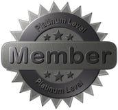 Membro livellato del platino (guarnizione) Fotografia Stock