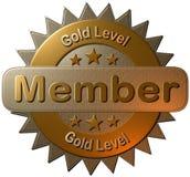 Membro livellato dell'oro (guarnizione) Fotografia Stock Libera da Diritti