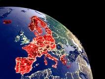 Membros da área de Schengen do espaço ilustração royalty free