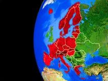 Membros da área de Schengen do espaço ilustração do vetor