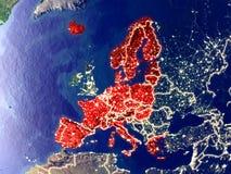 Membros da área de Schengen na terra na noite imagens de stock royalty free