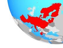 Membros da área de Schengen no globo ilustração royalty free
