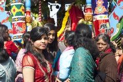 Membros da comunidade hindu local fotos de stock royalty free