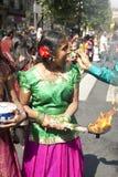 Membros da comunidade hindu local imagens de stock royalty free
