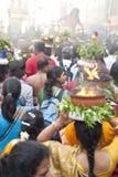 Membros da comunidade hindu local fotografia de stock royalty free