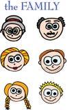 Membros da família ilustração royalty free