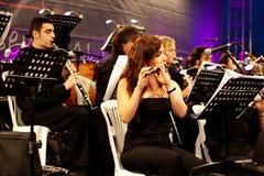 Membros da orquestra sinfónica Fotografia de Stock Royalty Free