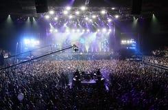 Membros de ARMIN SOMENTE: Mostra intensa com Armin van Buuren na Minsk-arena o 21 de fevereiro de 2014 Fotografia de Stock Royalty Free