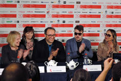 Membros principais do júri da competição do festival de cinema do International de Moscou fotos de stock royalty free