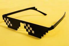 meme γυαλιά εικονοκυττάρου στοκ φωτογραφία