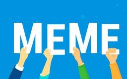 Meme concept vector illustration Stock Images