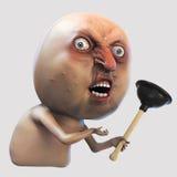 Meme d'Internet pourquoi vous non avec le plongeur Illustration du visage 3d de rage Images libres de droits