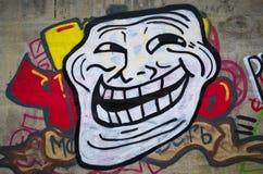 Troll Face Meme - graffiti. Stock Images