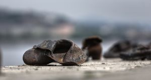 Memento 03. Distressed memorial of the  II. world wars massacre Royalty Free Stock Image