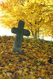 Memento - Conciliation Cross. Conciliation cross is a stone cross built mostly on the ground, where he became a capital crime or disaster Stock Image