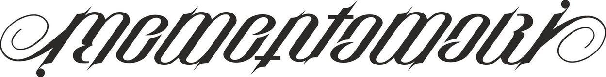 Memento mori ambigram Lizenzfreie Stockfotografie