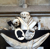Memento mori - skull, reaper sickle Stock Image