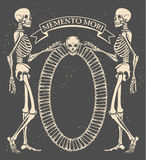 Memento mori. Vector illustration with skeletons Royalty Free Stock Images