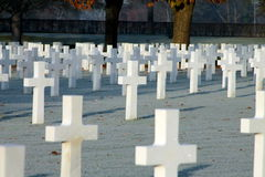 Американское кладбище и Memeorial Стоковое Фото