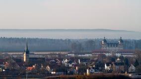 Memmelsdorf y castillo francés Seehof Fotografía de archivo