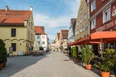 Memmingen arkitektur - Swabia Tyskland royaltyfri fotografi