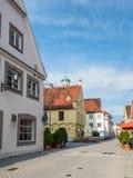 Memmingen arkitektur - Swabia Tyskland royaltyfri bild