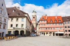 Memmingen gammal stad, Tyskland Arkivbilder