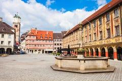 Memmingen gammal stad, Tyskland Royaltyfri Bild