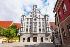 Memmingen gammal stad, Tyskland Royaltyfria Bilder