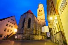 Memmingen gammal stad, Tyskland Royaltyfri Fotografi