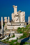 Memmius Denkmal an den Ruinen von Ephesus in der Türkei Lizenzfreie Stockbilder