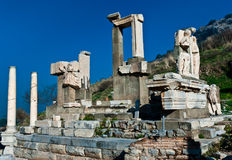 Memmius Monument at the ruins of Ephesus in Turkey Royalty Free Stock Photography