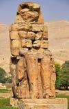 Memnon巨人在埃及 免版税库存照片
