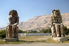 Memnon Colossi. Luxor. Egypt. Valey of king Stock Photos