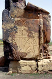 Memnon colossi. Near Luxor and Valley of Kings, Egypt Stock Images