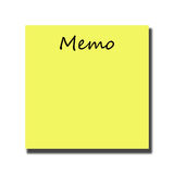 Memo Royalty Free Stock Images