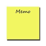 memo vektor illustrationer