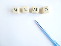 Memo royalty free stock photos