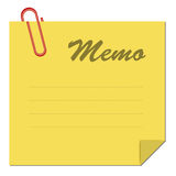 Memo. Note paper Stock Photography