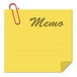 Memo. Note paper Stock Illustration