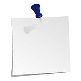 Memo. A piece of paper with pin Royalty Free Stock Photography