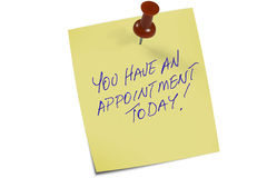 Memo appointment  Royalty Free Stock Image