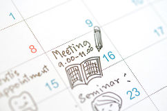 Memo   appointment Royalty Free Stock Photo
